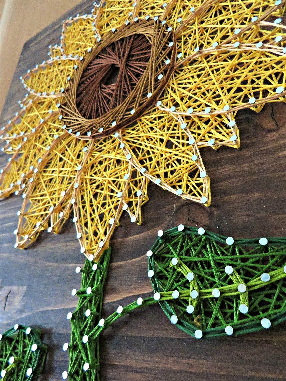 Amazon.com: String Art Kit - Sunflower String Art, Arts and Crafts ...