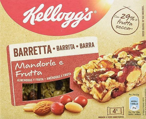 Kelloggs, Barrita de cereal (Almendras y fruta) - 2 de 4 barritas ...