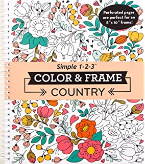 Amazon Com Color Frame Adult Coloring Book In The Forest