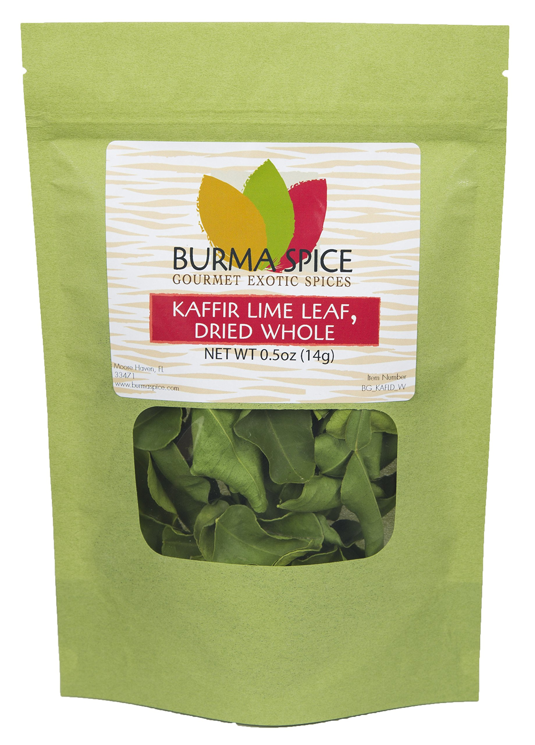 Dried Kaffir Lime Leaves, used in Tom Yum Thai soup from Citrus Hystrix plant, Makrut, Kosher