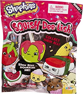 Shopkins Squish-Dee-Lish Blind Bag Series 1 - Squeeze Me! - Slow Rise (Set of 2) Collect them all!