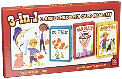 amazon com cartamundi usa 3 in 1 classic children s card game set