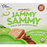 Plum Organics Jammy Sammy Sandwich Bar, Apple Cinnamon and Oatmeal, 5 Count, 5.15 oz