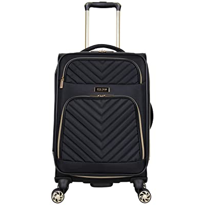 "Kenneth Cole Reaction Women's Chelsea 20"" Chevron Quilted Softside Expandable 8-Wheel Spinner Carry-On Suitcase"