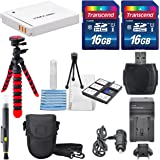 NB-6L Deluxe Accessory Bundle for Canon PowerShot SX610, SX710, D30, and S120 along with a total of 32GB SD Card, Flexible Tripod, Battery, AC/DC Charger, and Cleaning Accessories