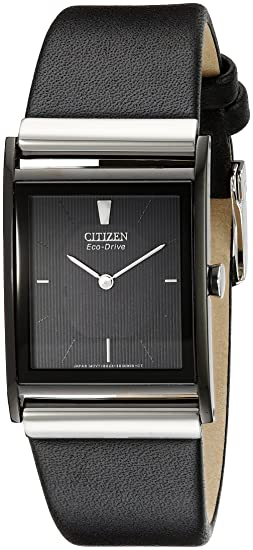 e606c6a711b Citizen Men s BL6005-01E Eco-Drive Strap Black Dial Watch  Citizen ...