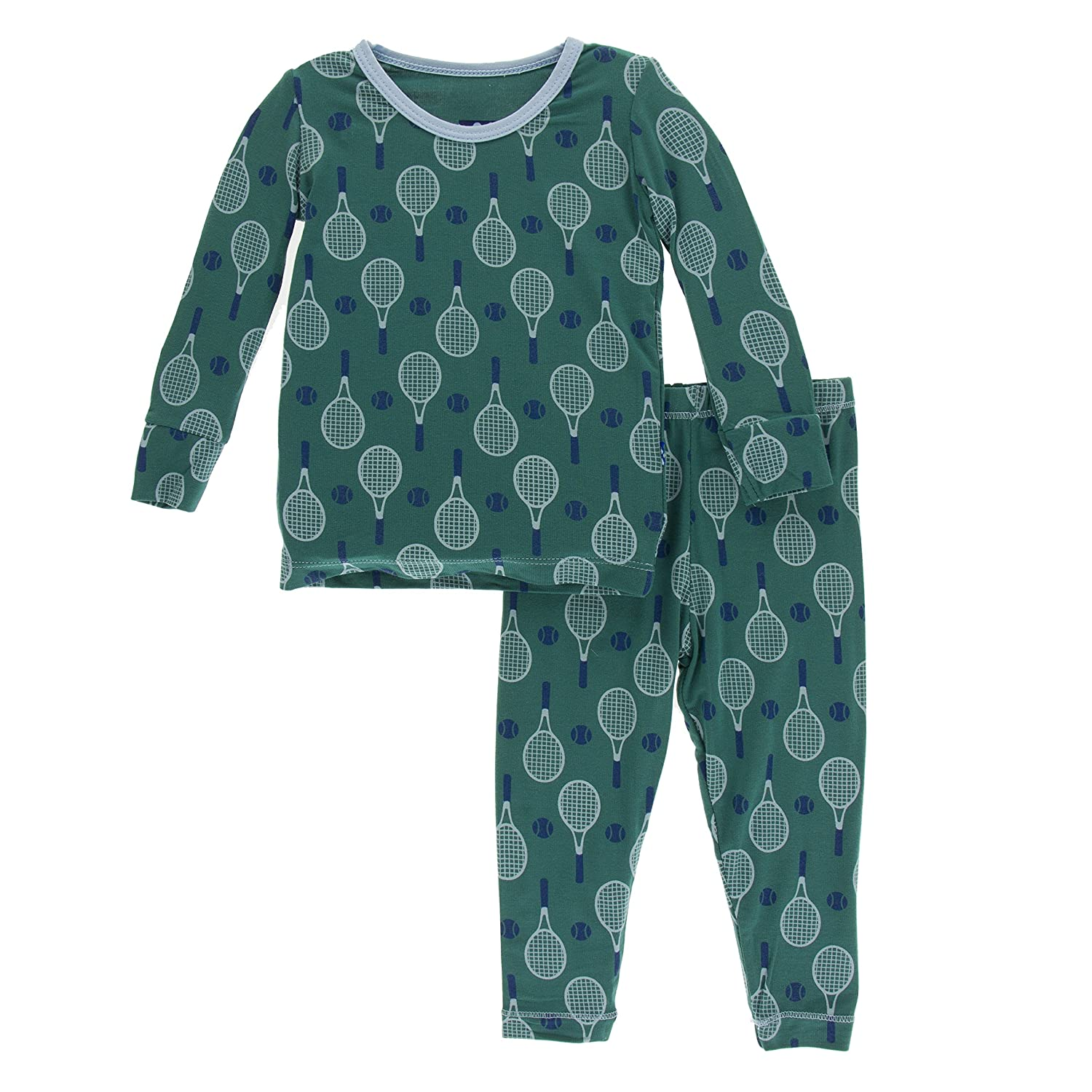 c2ad53655 Amazon.com  Kickee Pants Print Short Sleeve Pajama Set  Infant And ...