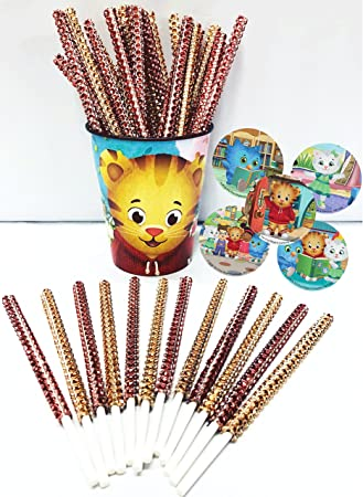 Amazon.com: Daniel Tigre inspirado fiesta Bling palos para ...