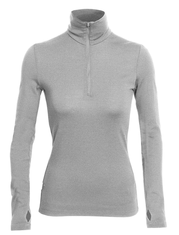 Icebreaker Merino Tech Heavyweight Base Layer Half Zip Pullover Top New Zealand Merino Wool 100524