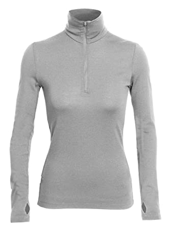 f316e33597c163 Icebreaker Damen Shirt Unterhemd Langarm Rollkragen Tech Top Longsleeve  Half Zip