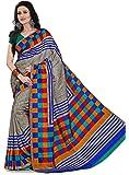 Samskruti Sarees Artificial Silk Saree With Blouse Piece (Spas-79_Grey_Free Size)