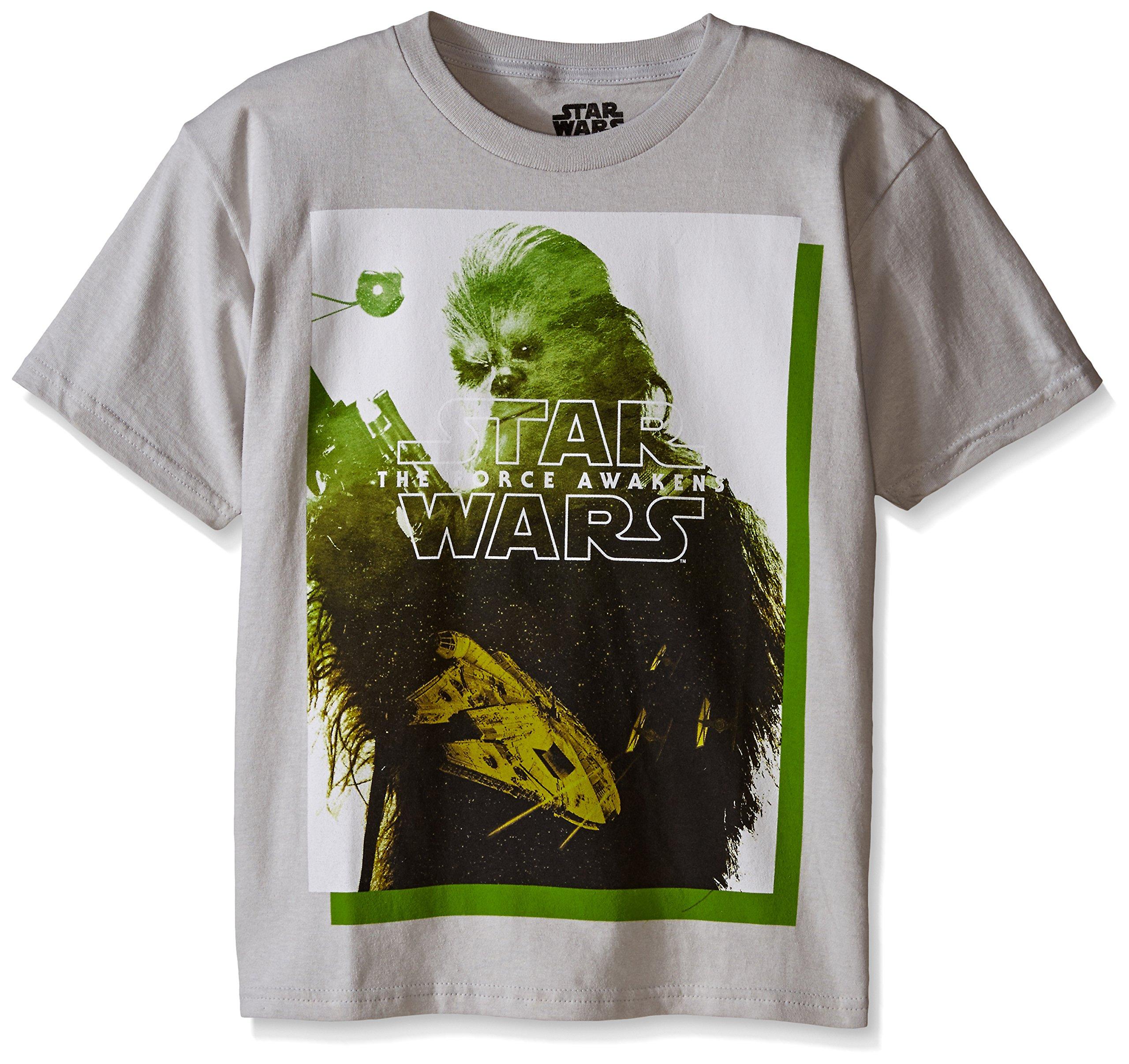 Star Wars Big Boys' T-Shirt, Grey, Large/14-16