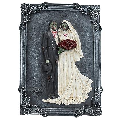 Amazon Com Design Toscano Zombie Wedding Wall Sculpture Home Kitchen