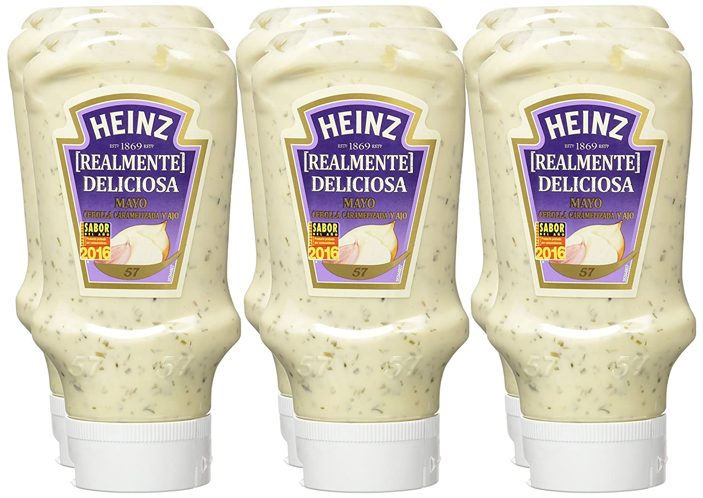 Heinz - Mayonesa Cebolla Caramelizada, 395 ml, pack de 6: Amazon.es: Alimentación y bebidas