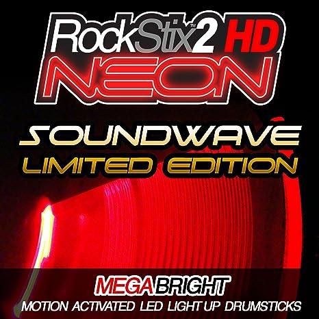 """ROCKSTIX 2 HD de neón de color rojo y con """"con oportunidad"""" -"""
