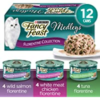 Fancy Feast Wet Cat Food, Elegant Medleys Florentine Variety Pack 85 G Cans (12 Pack)