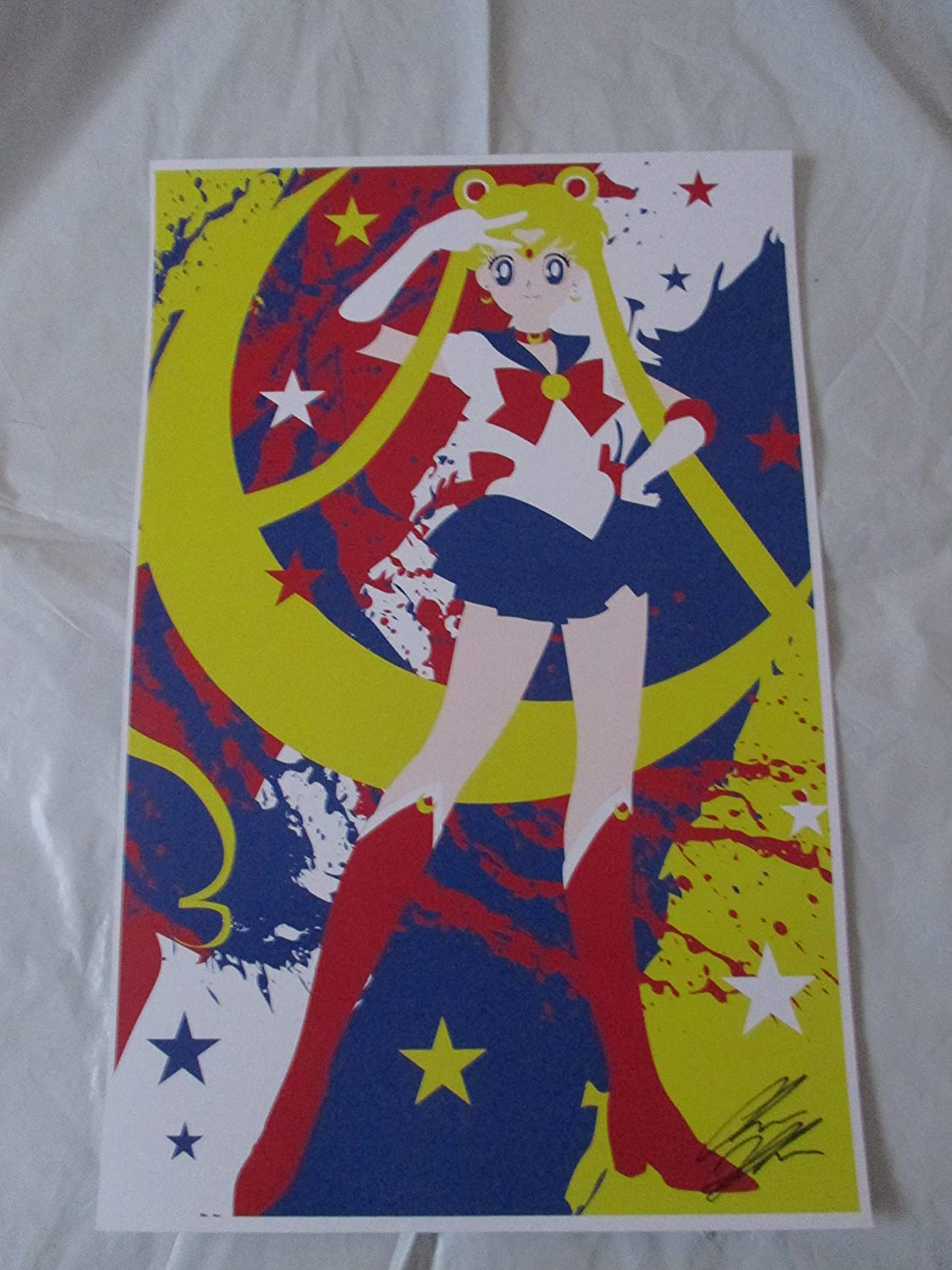 SAILOR MOON! 11' By 17' Limited Edition Print Signed By Chris Huffman, W/coa SAILOR MOON! 11 By 17 Limited Edition Print Signed By Chris Huffman