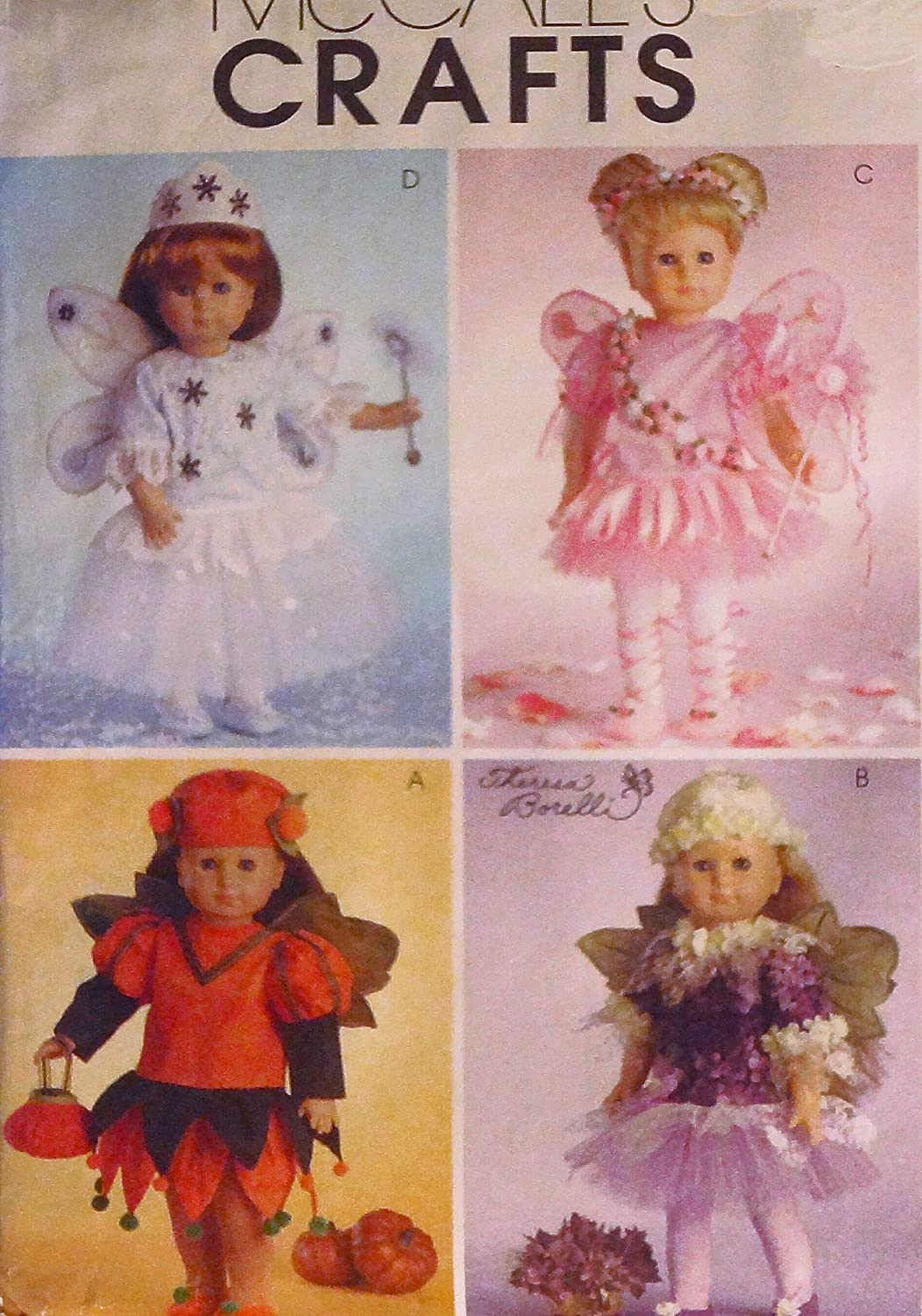 McCall's M4741 Fairy Costumes Sewing Pattern 18 Doll Clothes ~ (4741) AMERICAN by CRAFTS   B0086OISZG