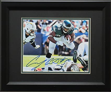 19b94859576 Corey Clement Signed Photo - 8x10 Chargers framed - Autographed NFL Photos