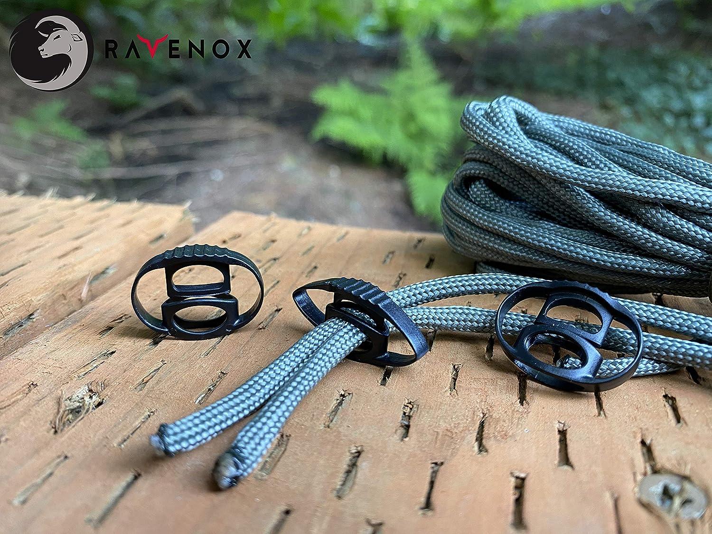 """6 Pack Bungee Loop Cords w//Barrel Lock Cord Stop Hunting Camping Hiking 6/"""" Loop"""