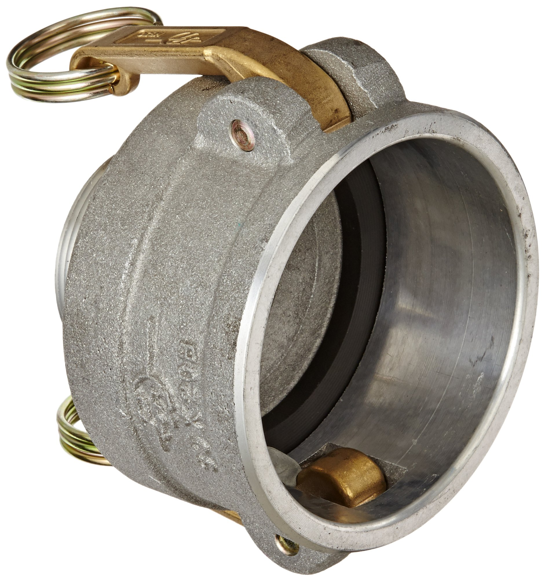 PT Coupling 30X20B Aluminum Reducer Cam and Groove Hose Fitting, B-Reducer, Brass (HB) Cam Arms, 3'' Coupler x 2'' NPT Male