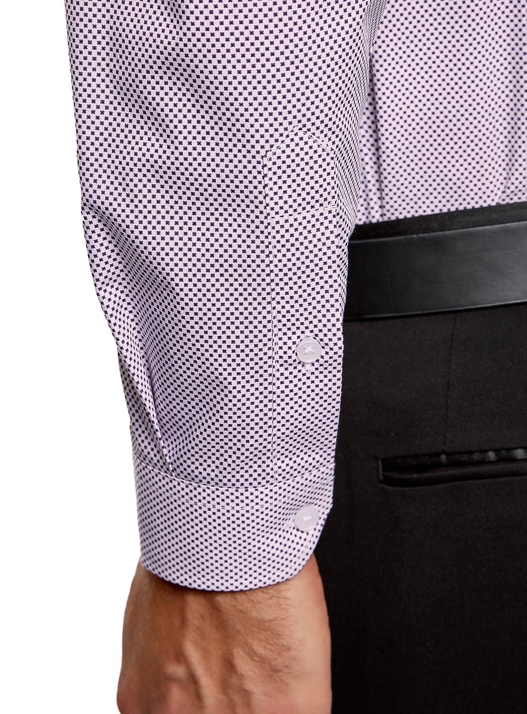 oodji Ultra Uomo Camicia Slim Fit in Stampa Grafica Fitta