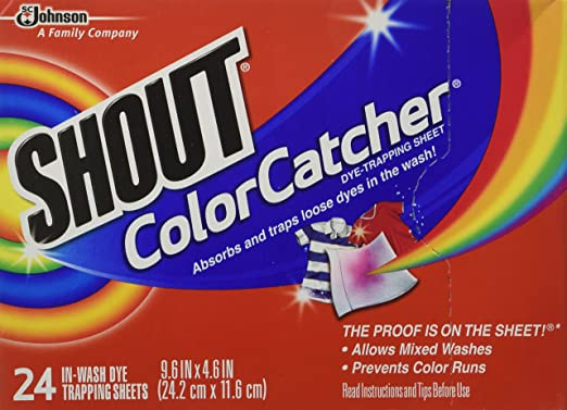 Shout Color Catcher Dye-Trapping, In-Wash Cloths - 24 ea