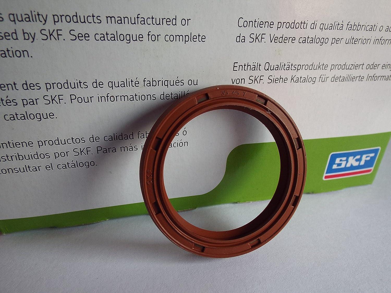 35 x 45 x 7 mm SKF Viton Huile Seal R23/TC double Lip Ressort en acier inoxydable Lancashire Seals