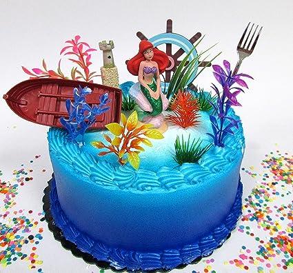 Amazon.com: Sirenita Princesa Ariel Themed juego de pastel ...