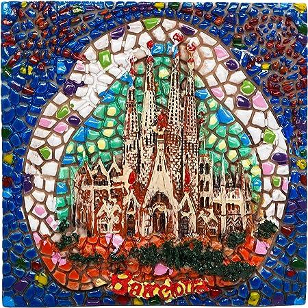 Barcelona Sagrada Família, Souvenir de España Imán para Nevera Imanes para Refrigerador Artesanía Hecha A Mano: Amazon.es: Hogar