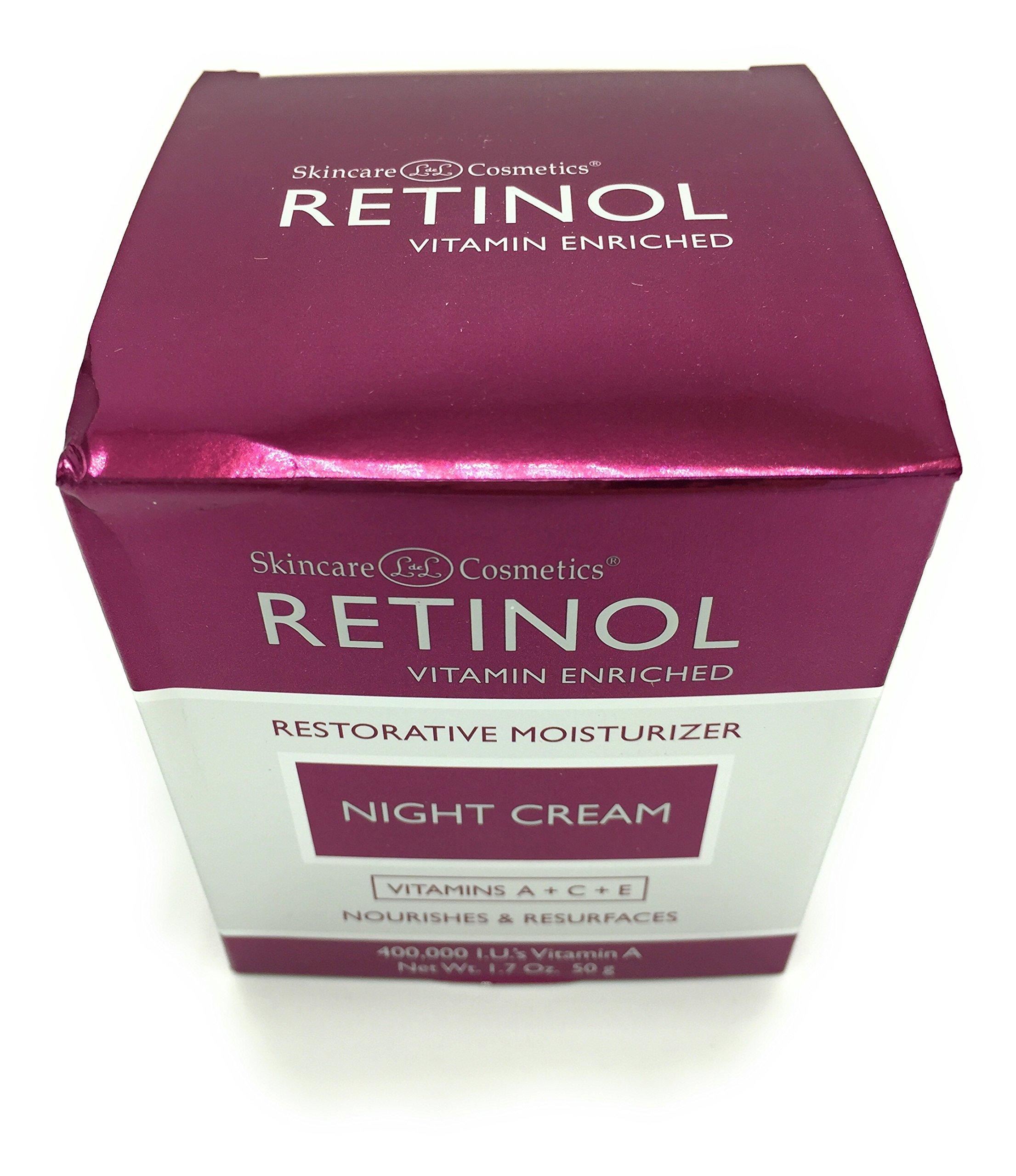 Skincare LdeL Cosmetics Retinol Vitamin Enriched Night Cream 1.7 ounces