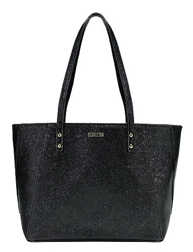 7cc5a33a62 Amazon.com  Scarleton Classy Tote Bag H194401 - Black  Shoes