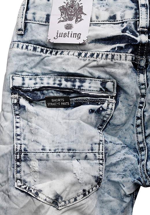 Justing 3130 Herren Jeans Shorts Kurze Hose Bermuda  Amazon.de  Bekleidung 2bab13eaad
