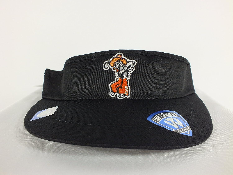 Oklahoma State Cowboys Adj。ストラップバックWide Brim Sun Visor (ブラックunderつば) ( d105 ) B01K38EAMM