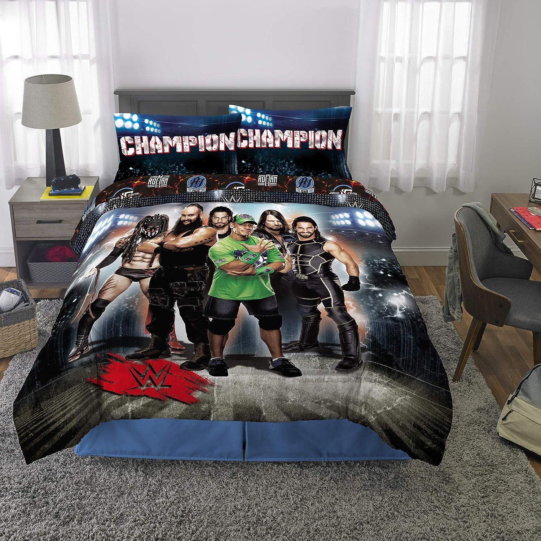 WWE Wrestling Armageddon Boys Full Comforter & Sheets, 6 Piece Bedding, New! + Homemade Wax Melts