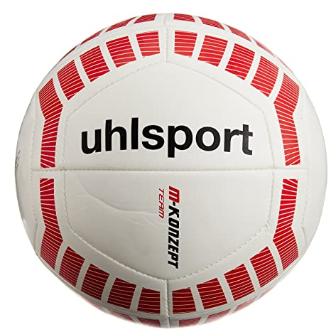 ef3c7876d Buy UHLSport M-Konzept Team Football, Size 5 (Flour Red/White) Online at  Low Prices in India - Amazon.in
