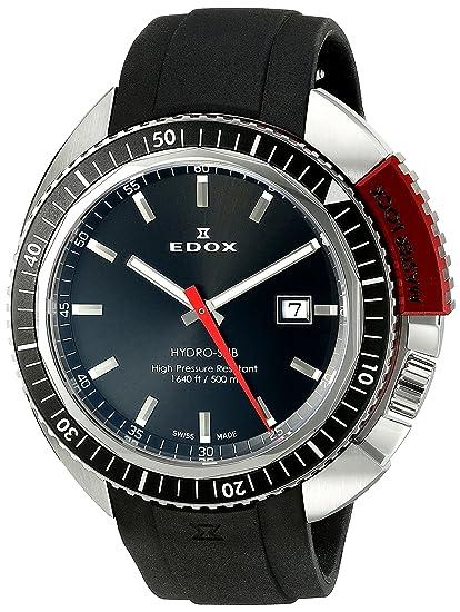 EDOX Reloj analógico para Unisex de Cuarzo con Correa en Caucho 53200 3NRCA NIN: Amazon.es: Relojes