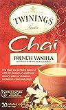 Twinings of London French Vanilla Chai Tea Bags 1.41 Ounces - 1 Box