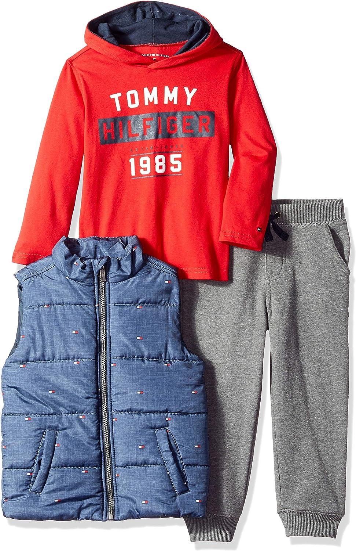 Tommy Hilfiger Boys 3 Pieces Jacket Pants Set