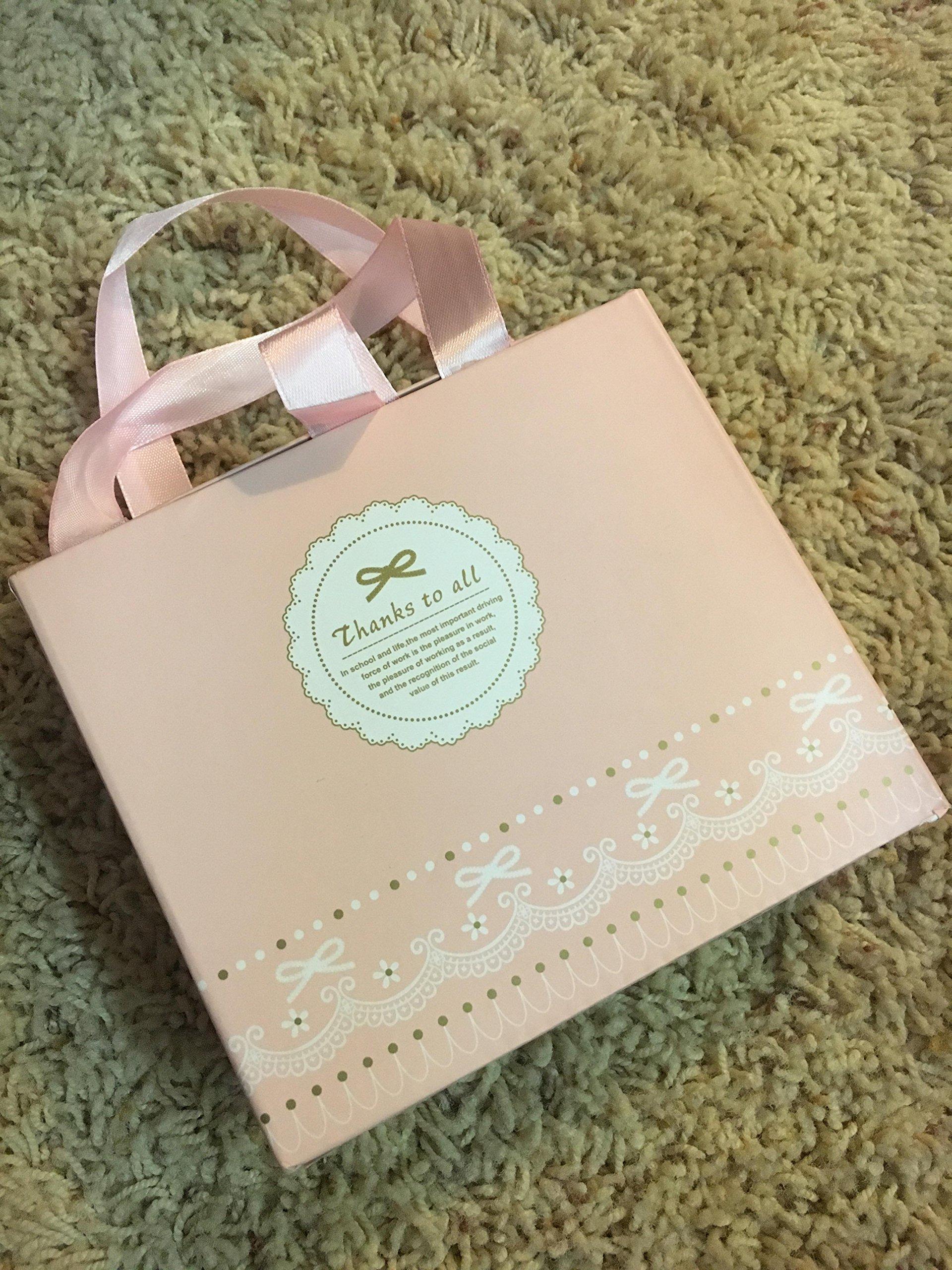? BOBORA ? Newborn Baby Girl Organic Anti Slip Socks + Girl's Flower Crown Headbands Sets with Gift Box- Best Baby Shower Gift by BOBORA (Image #6)