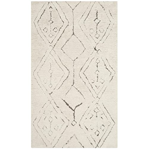 Safavieh Casablanca Collection CSB212A Ivory and Multi Area Rug, 3 x 5