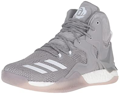 adidas Men s D Rose 7 Basketball Shoe Medium Heather White MGH Solid Grey 2dbfc7f8b
