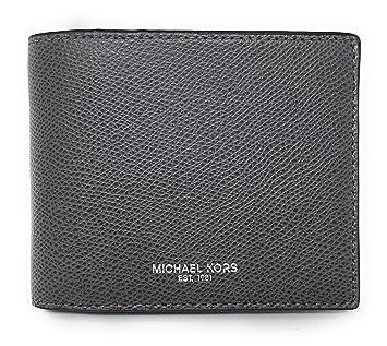 2d175975fc26 Amazon.com  Michael Kors Warren Men s Leather Billfold with Passcase Wallet  (Grey)  Andres Supplies