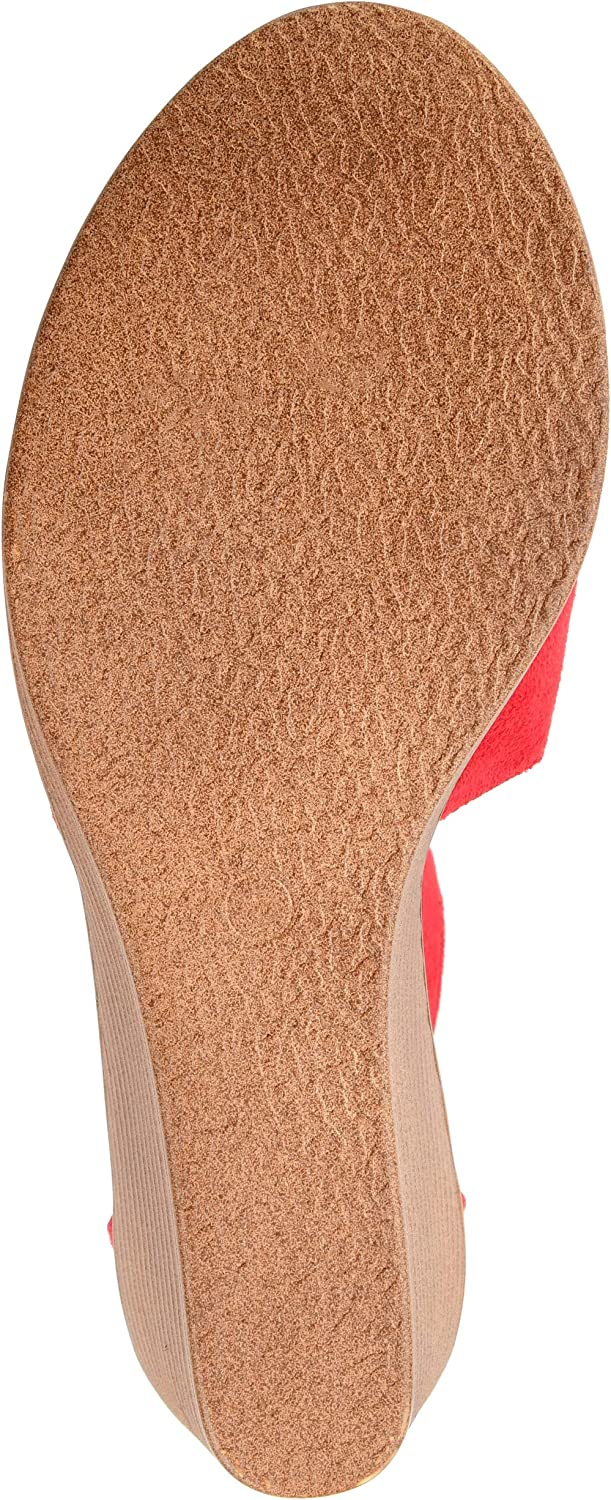 Journee Collection Womens Comfort Sole Ankle Strap Wedges