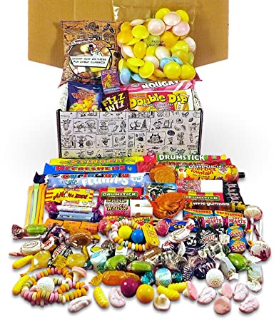 Retro Sweets Mega Gift Box Jam Packed With Over 60 Of The Best Most