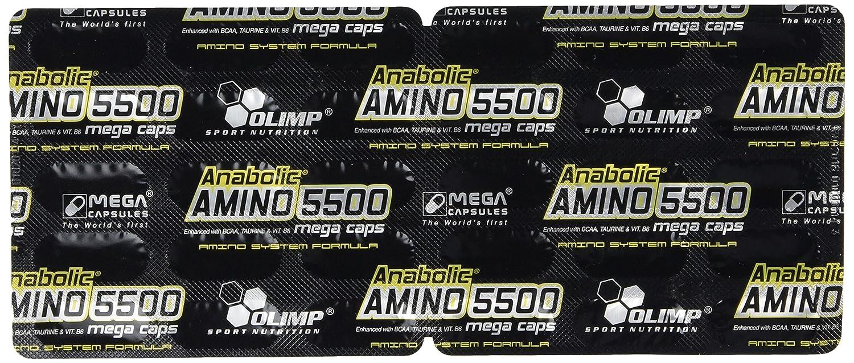 Olimp Sport Nutrition Anabolic Amino 5500 Mega Aminoácidos - 900 Cápsulas: Amazon.es: Salud y cuidado personal