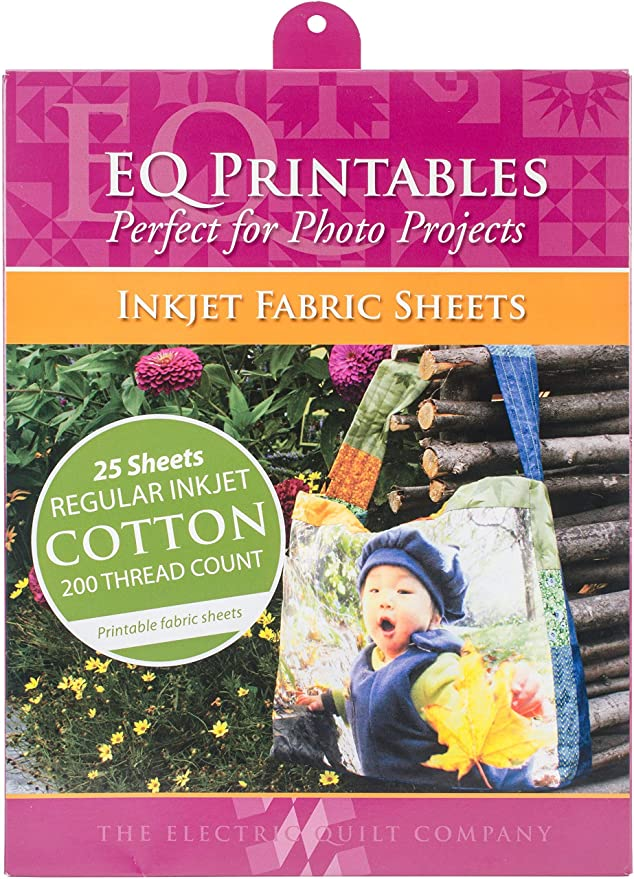graphic regarding Printable Company Limited Quilts titled Cotton Printable Material Sheets 25 Sheets for each Pack