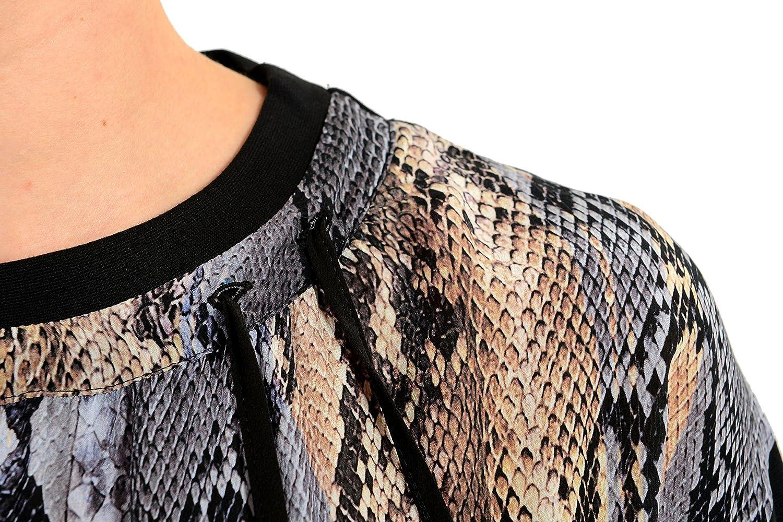 Just Cavalli Womens Silk Multi-Color Long Sleeve Crewneck Sweatshirt US S IT 40