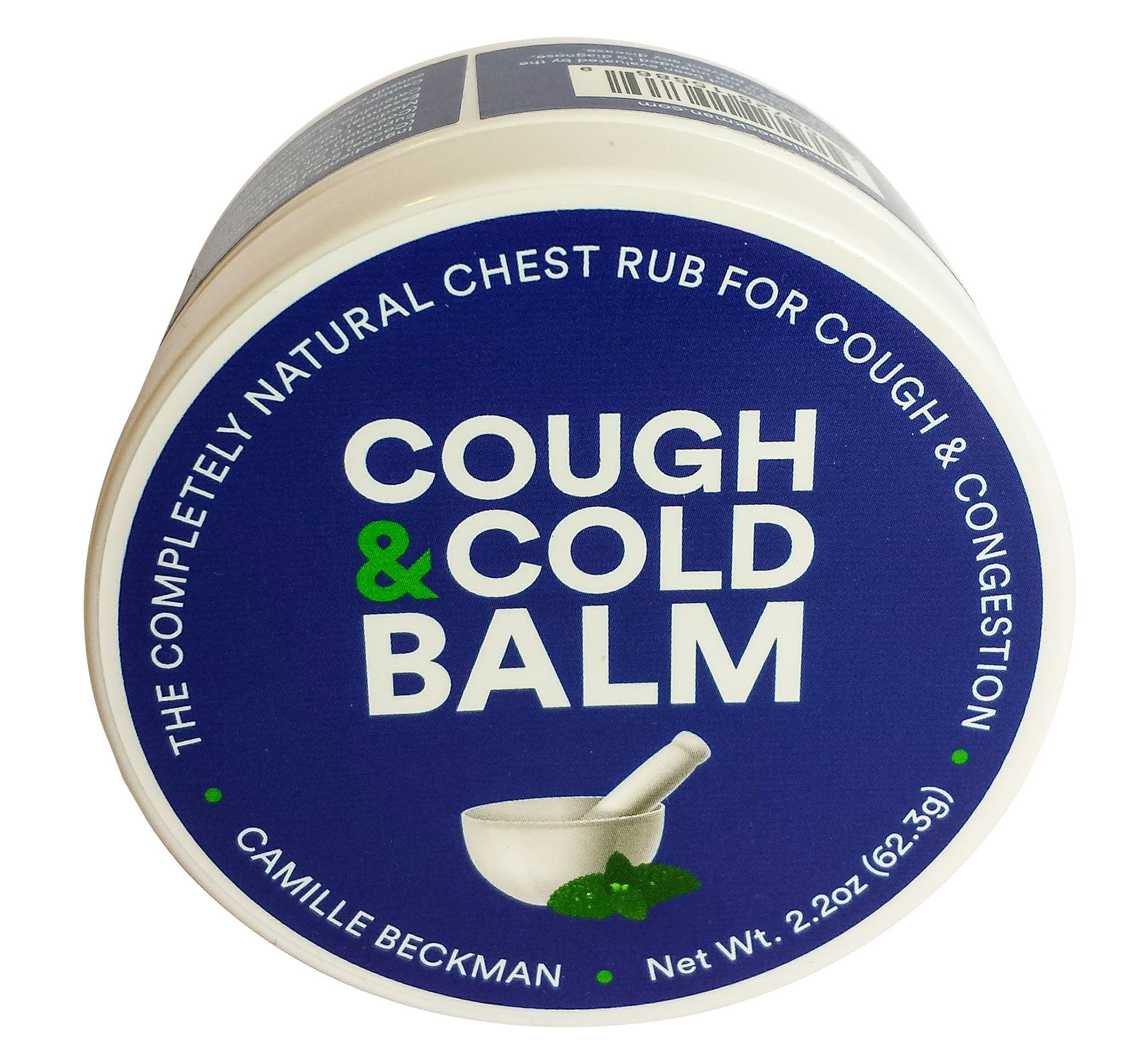 Camille Beckman Cough & Cold Balm All-in-One Natural Vegan Formula, 2.2 Ounce
