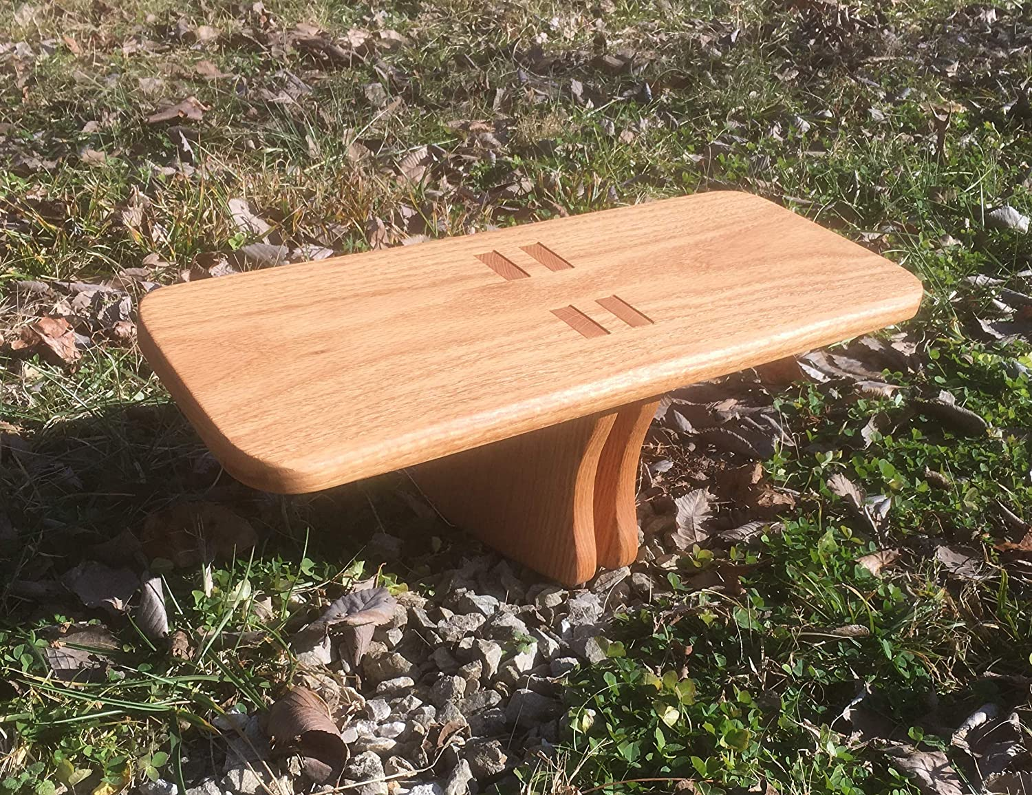 Pine MEDITATION STOOL Pi-Style Legs /—Seiza Bench/—Prayer Stool/—Yoga Kneeling Seat